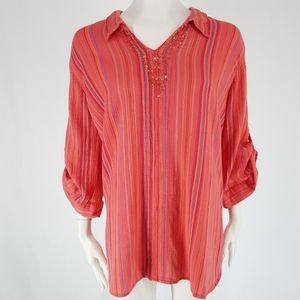 Catherine's | Embellished Tab Tunic Top